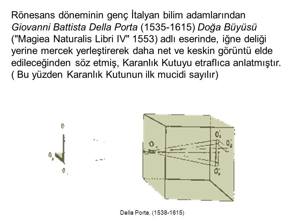 Rönesans döneminin genç İtalyan bilim adamlarından Giovanni Battista Della Porta (1535-1615) Doğa Büyüsü (