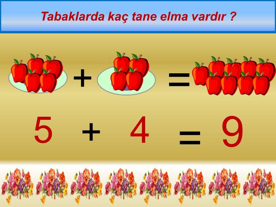 + = Aşağıda kaç tane top vardır ? 4 + 3 = 7