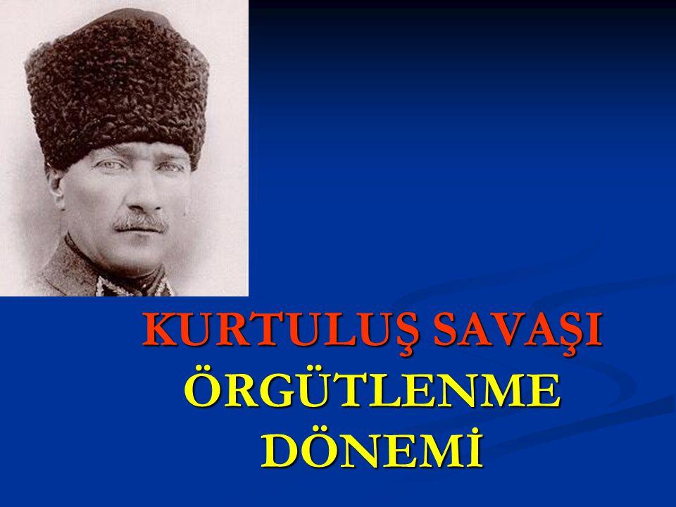 AMASYA GENELGESİ ÖNEMİ  Türk İnkılabının İHTİLAL safhası başlamıştır.