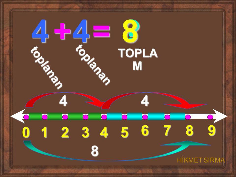 01234 5 6789 4+4= ? t o p l a n a n t o p l a n a n TOPLA M 44 8 8