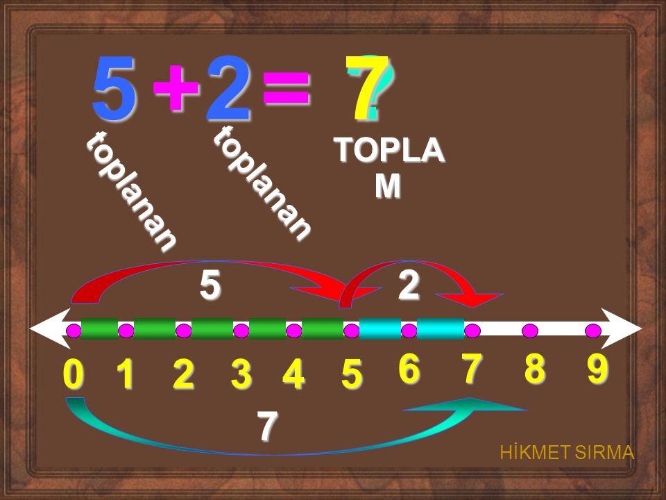 01234 5 6789 5+2= ? t o p l a n a n t o p l a n a n TOPLA M 52 7 7