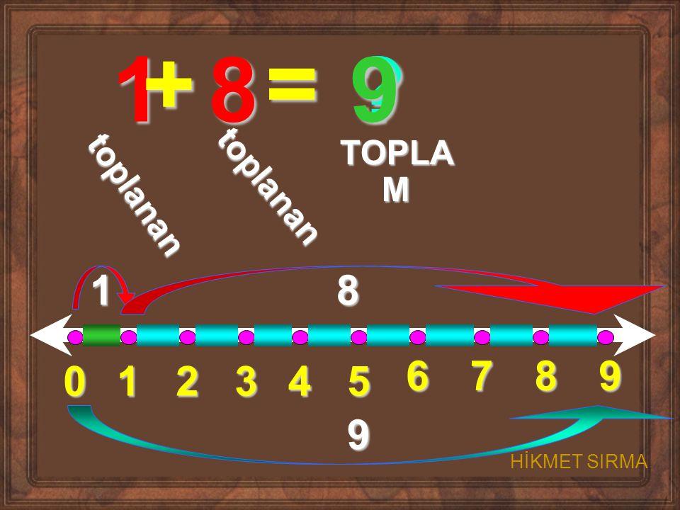 012345 6789 1 + 8 = ? t o p l a n a n t o p l a n a n TOPLA M 18 9 9