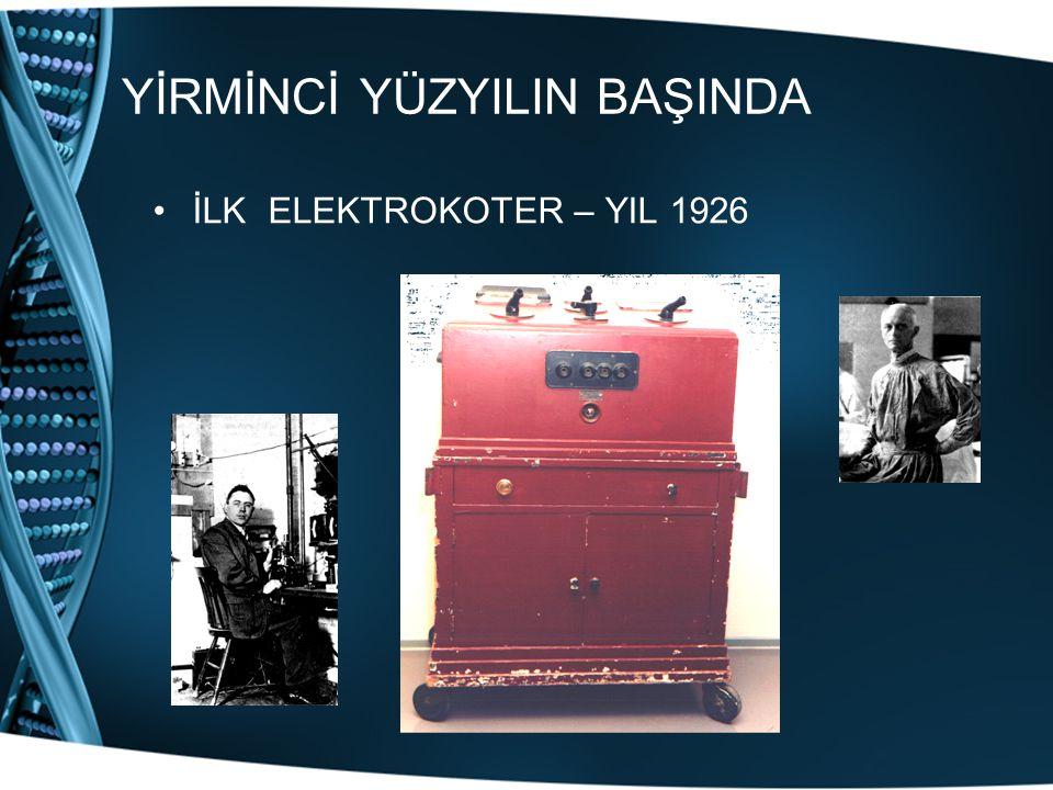 YİRMİNCİ YÜZYILIN BAŞINDA İLK ELEKTROKOTER – YIL 1926