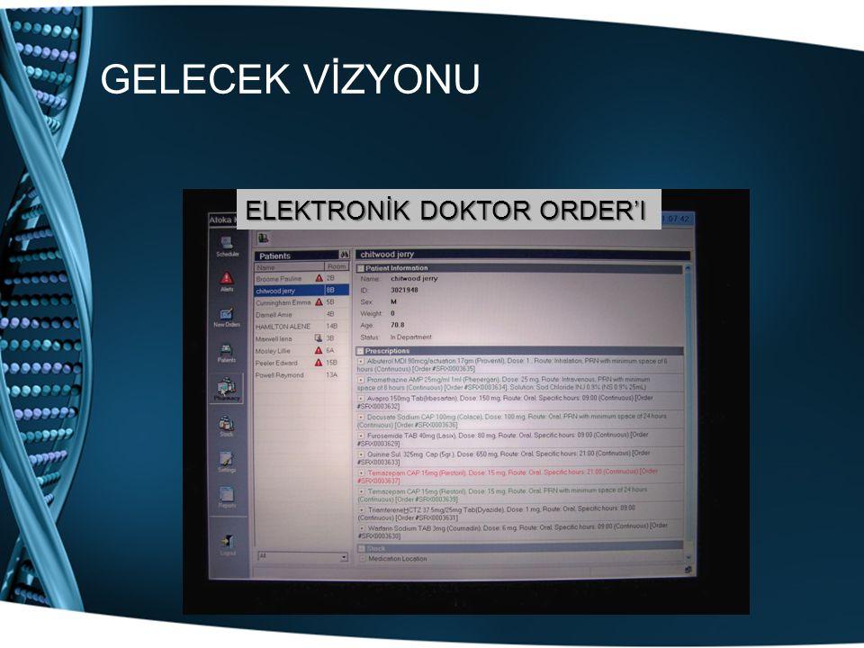 GELECEK VİZYONU ELEKTRONİK DOKTOR ORDER'I