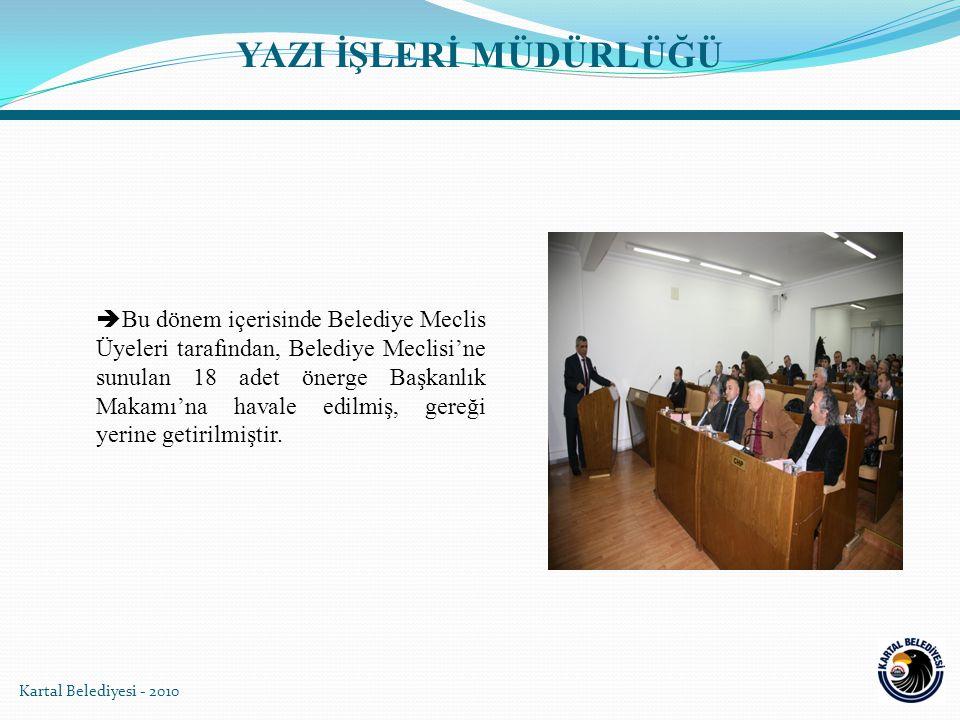 Kartal Belediyesi - 2010  Belediye Encümeni; 5393 Sayılı Yasa'nın 33.