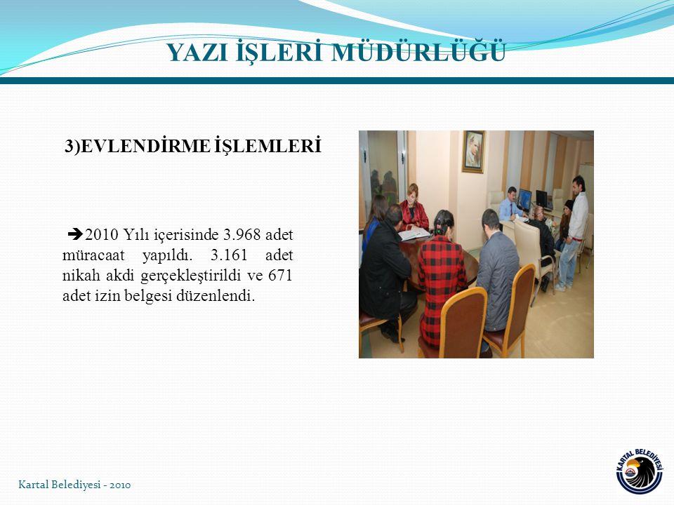 Kartal Belediyesi - 2010 Bülent Ecevit Kültür Merkezi Belediye Nikah Salonu'nda Evlendirme Kayıt İşlemleri yapılmakta ve bu modern salonda nikah akitleri gerçekleştirilmektedir.