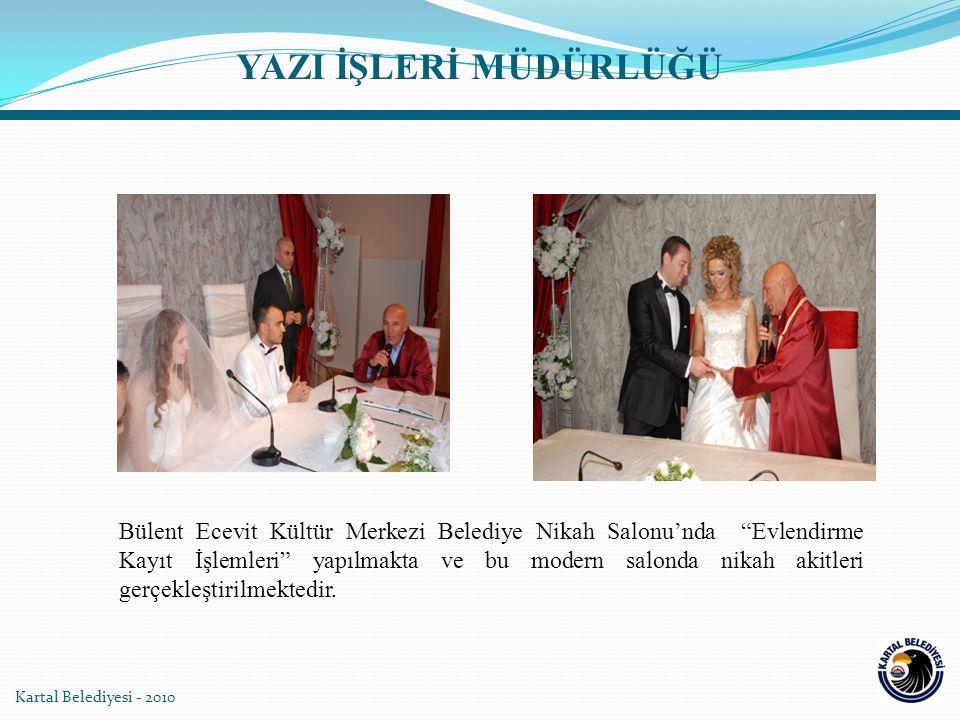 """Kartal Belediyesi - 2010 Bülent Ecevit Kültür Merkezi Belediye Nikah Salonu'nda """"Evlendirme Kayıt İşlemleri"""" yapılmakta ve bu modern salonda nikah aki"""