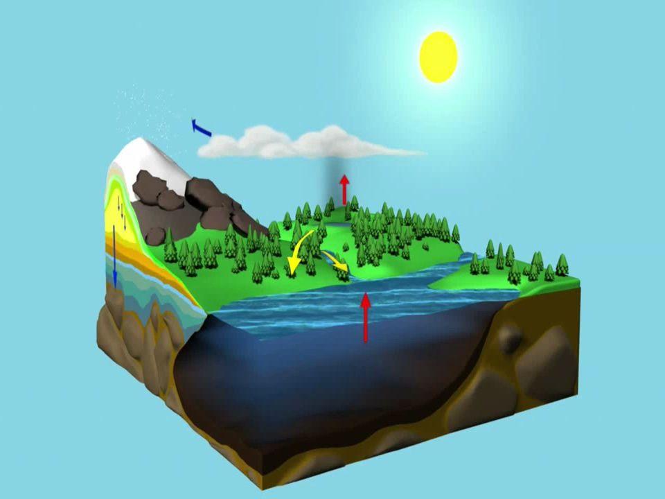 Güneş, su döngüsünde enerji kaynağıdır.