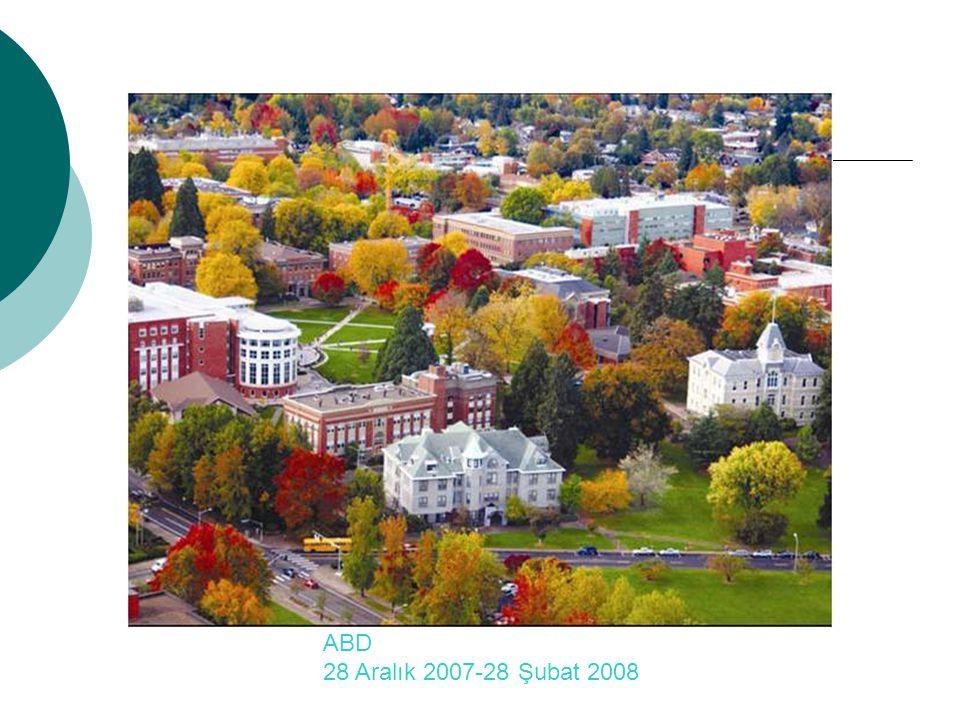 Corvallis, OREGON ABD 28 Aralık 2007-28 Şubat 2008