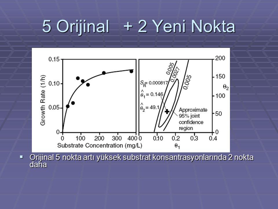 5 Orijinal + 2 Yeni Nokta  Orijinal 5 nokta artı yüksek substrat konsantrasyonlarında 2 nokta daha