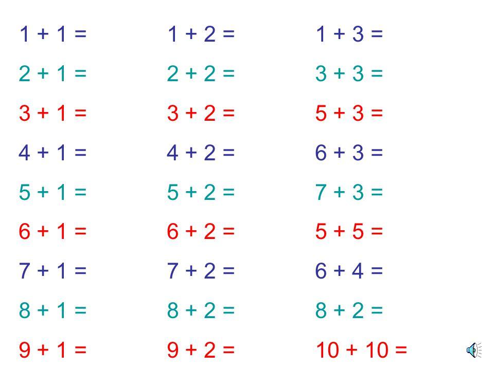 + = 4 + 2 = 6 4 2 6