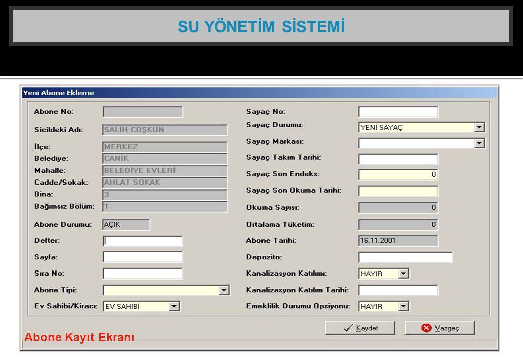Abone Kayıt Ekranı