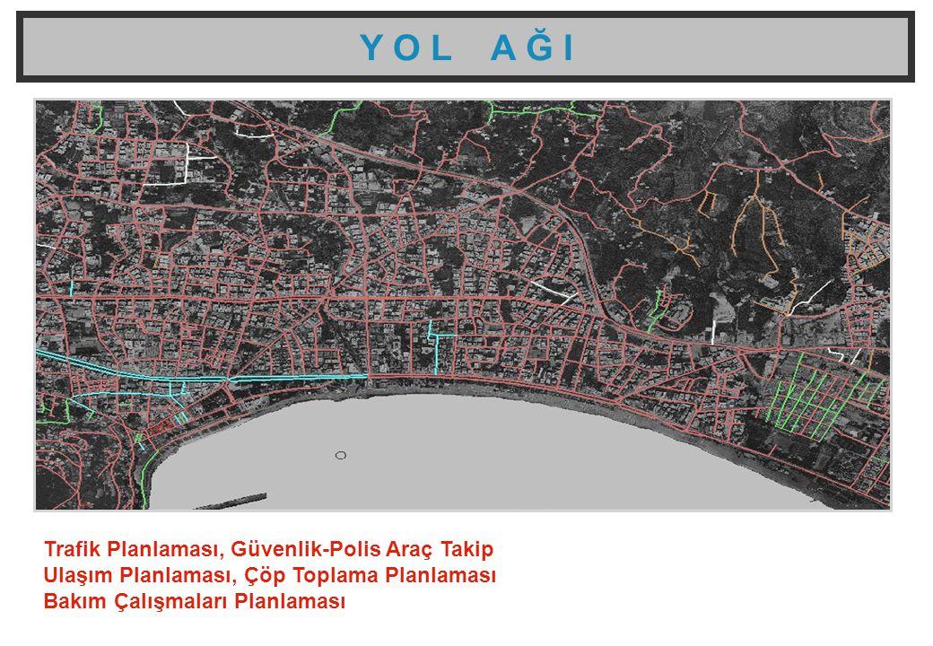 Y O L A Ğ I Trafik Planlaması, Güvenlik-Polis Araç Takip Ulaşım Planlaması, Çöp Toplama Planlaması Bakım Çalışmaları Planlaması