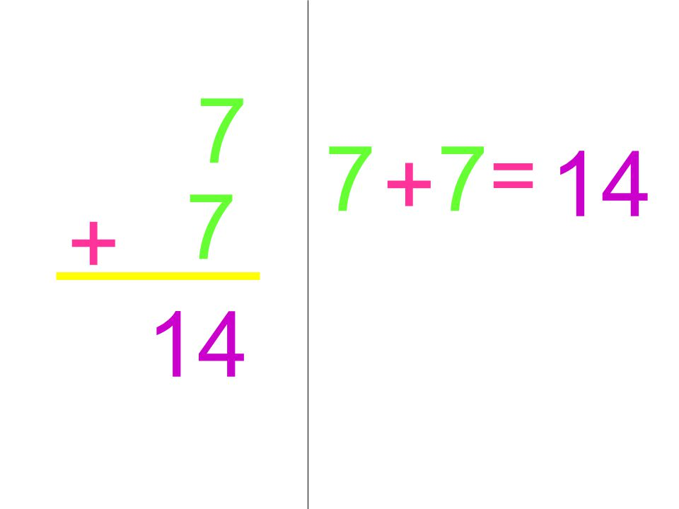 7 7 + 14 7 + 7 =