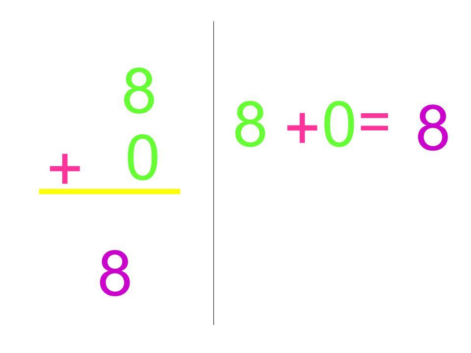 8 0 + 8 8 + 0 = 8