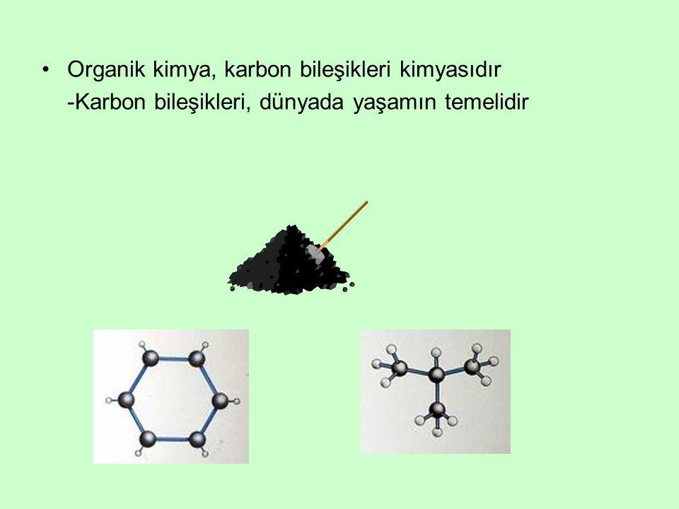 Organik kimya, karbon bileşikleri kimyasıdır -Karbon bileşikleri, dünyada yaşamın temelidir