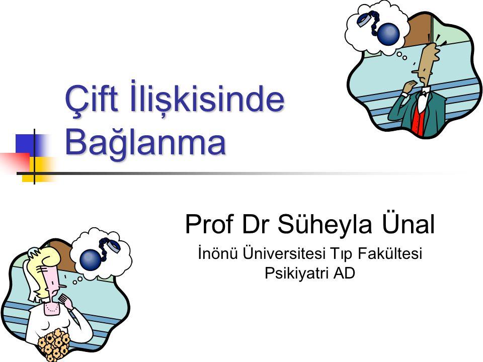 Çift İlişkisinde Bağlanma Prof Dr Süheyla Ünal İnönü Üniversitesi Tıp Fakültesi Psikiyatri AD