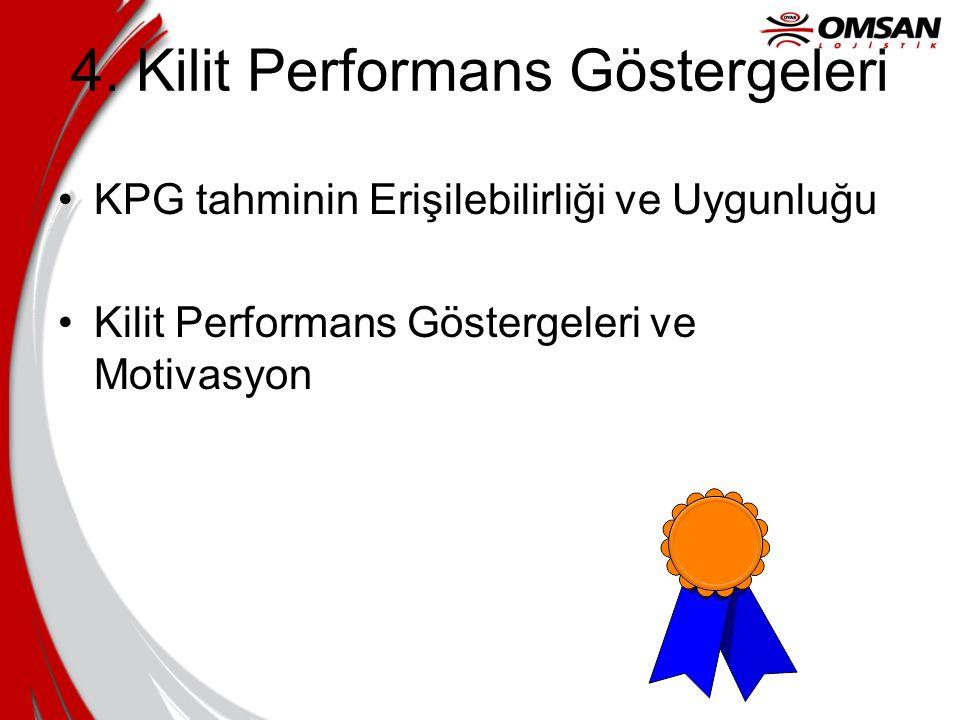 4. Kilit Performans Göstergeleri KPG tahminin Erişilebilirliği ve Uygunluğu Kilit Performans Göstergeleri ve Motivasyon