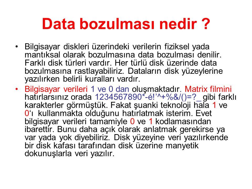 Data bozulması nedir .