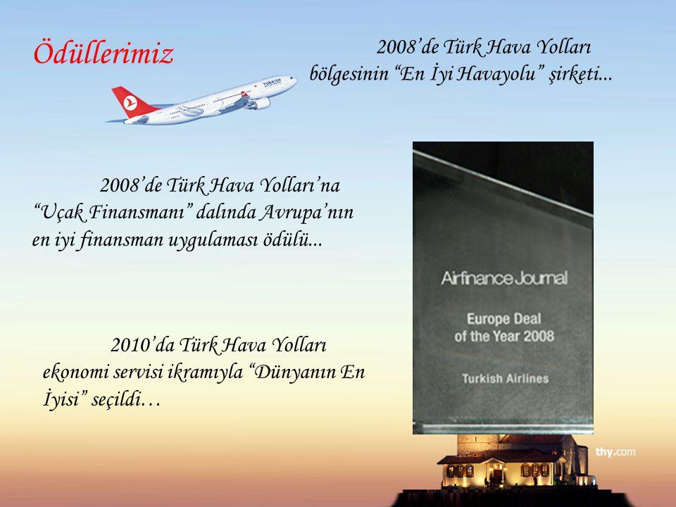 """2008'de Türk Hava Yolları'na """"Uçak Finansmanı"""" dalında Avrupa'nın en iyi finansman uygulaması ödülü... 2008'de Türk Hava Yolları bölgesinin """"En İyi Ha"""