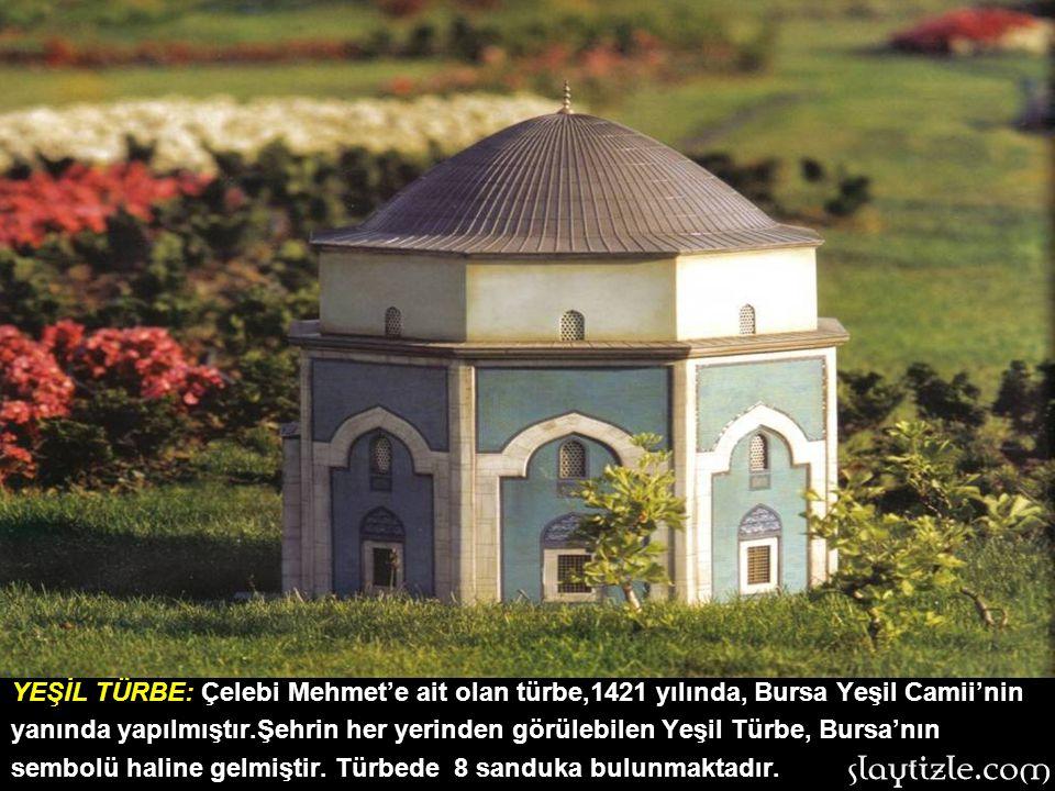 Ertuğrul Gazi Türbesi: Osmanlı Devletinin kurucusu Osman Gazi'nin babası ve Selçuklu Uç Beyi Ertuğrul Gazi'nin türbesidir. 14. yy.da yapılan ve yapım