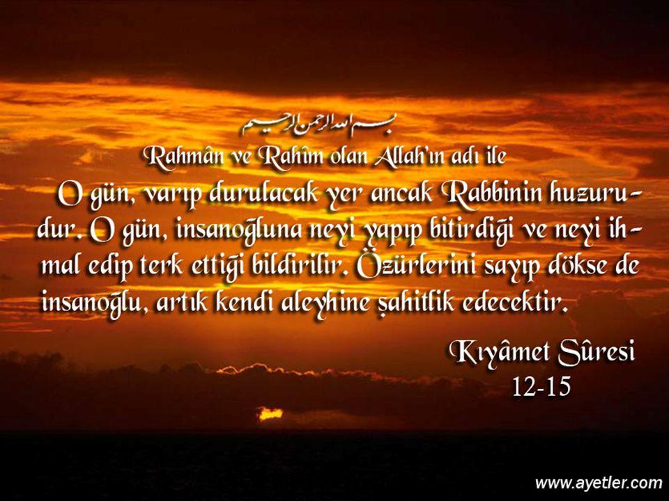  8) Semiallâhü limen hamideh diyerek rükûdan kalkılır ve ayakta Rabbenâ leke l- hamd denilir.