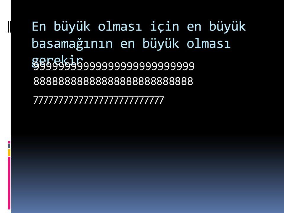 En büyük tek ve en büyük çifti nasıl buluyoruz……………… Sayının tek ya da çift olması birler basamağı ile ilgilidir. Çünkü birler basamağı sayının tek ya