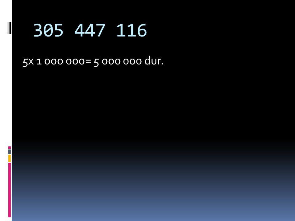 BASAMAK DEĞERİ Sayının içinde bulunduğu basamağın değeridir. Hangi basamakta ise o basamak ile sayı çarpılır. Örneğin: 305 447 116 Sayısında 5 rakamın