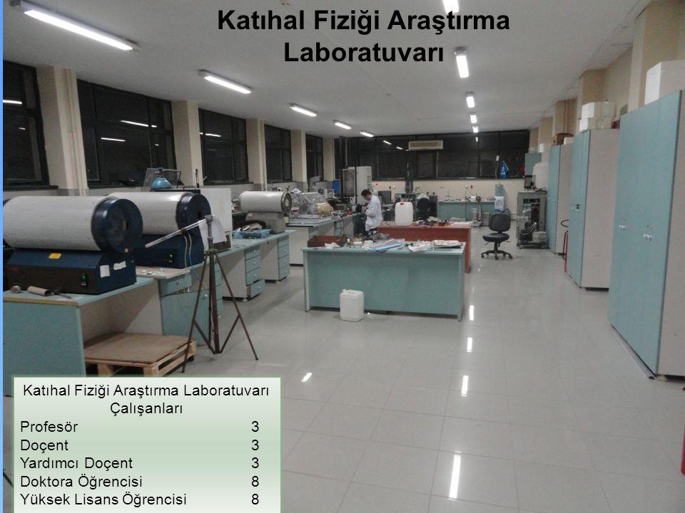 Katıhal Fiziği Araştırma Laboratuvarı Çalışanları Profesör 3 Doçent 3 Yardımcı Doçent 3 Doktora Öğrencisi 8 Yüksek Lisans Öğrencisi 8 Katıhal Fiziği A