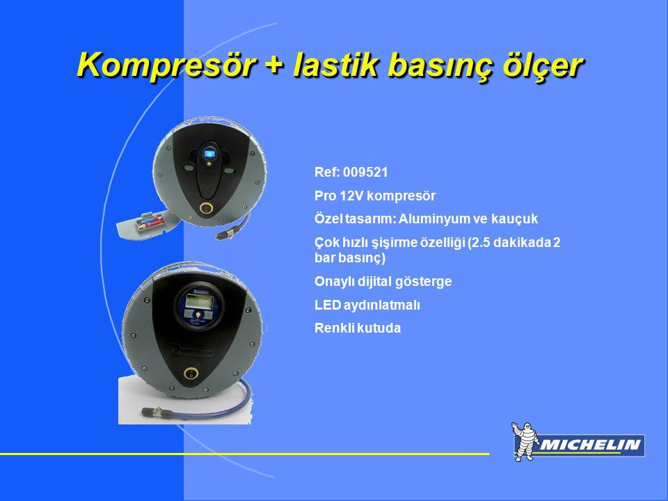TOSIP otomotiv Kompresör + lastik basınç ölçer Ref: 009521 Pro 12V kompresör Özel tasarım: Aluminyum ve kauçuk Çok hızlı şişirme özelliği (2.5 dakikad