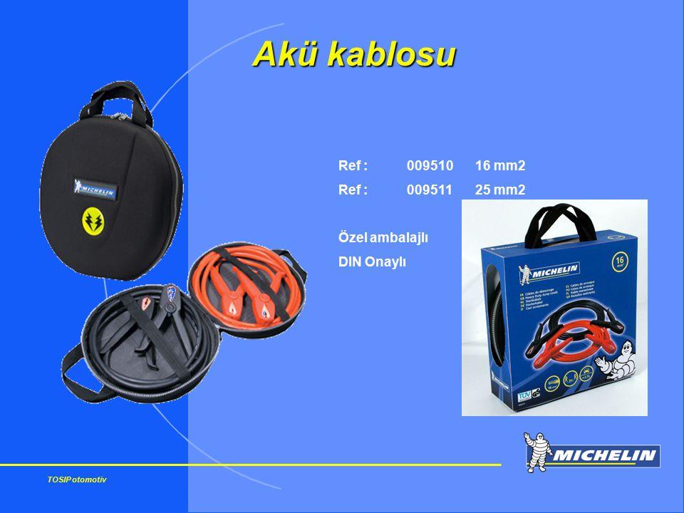 TOSIP otomotiv Ref : 00951016 mm2 Ref :00951125 mm2 Özel ambalajlı DIN Onaylı Akü kablosu