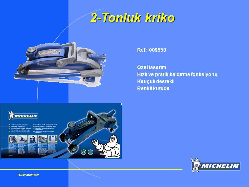 TOSIP otomotiv Ref: 009550 Özel tasarım Hızlı ve pratik kaldırma fonksiyonu Kauçuk destekli Renkli kutuda 2-Tonluk kriko