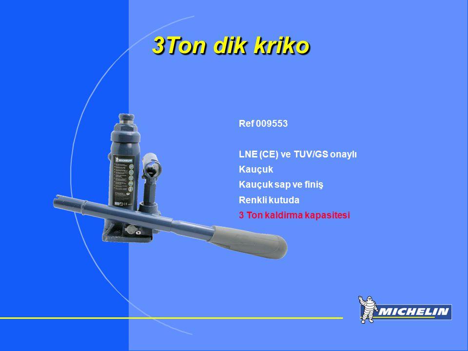 TOSIP otomotiv 3Ton dik kriko Ref 009553 LNE (CE) ve TUV/GS onaylı Kauçuk Kauçuk sap ve finiş Renkli kutuda 3 Ton kaldirma kapasitesi