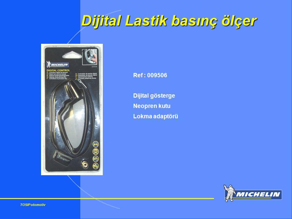 TOSIP otomotiv Ref : 009506 Dijital gösterge Neopren kutu Lokma adaptörü Dijital Lastik basınç ölçer