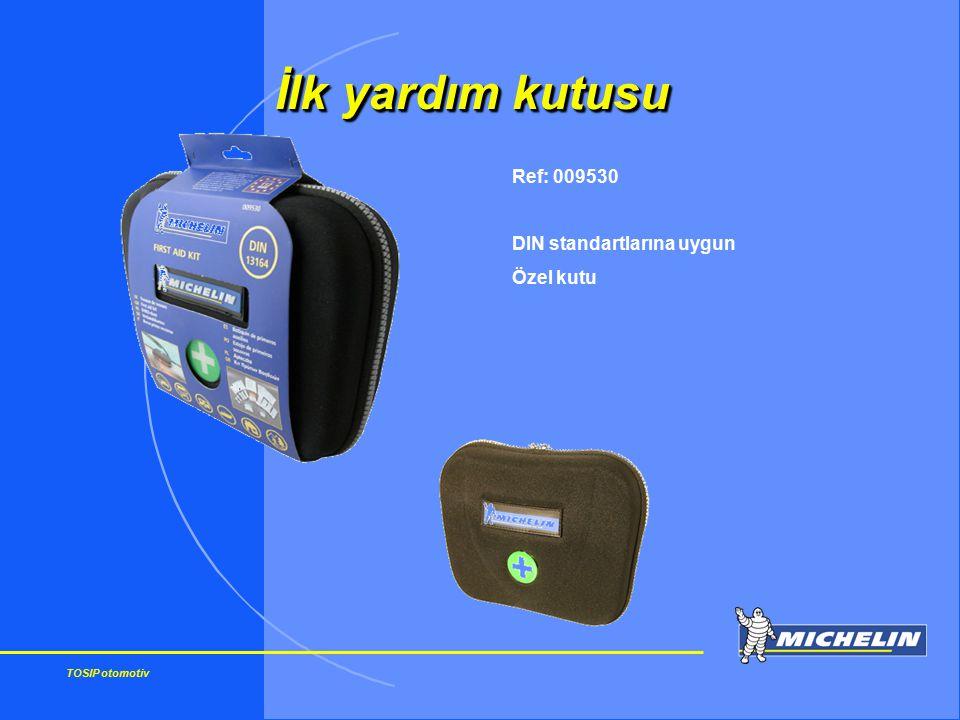 TOSIP otomotiv Ref: 009530 DIN standartlarına uygun Özel kutu İlk yardım kutusu