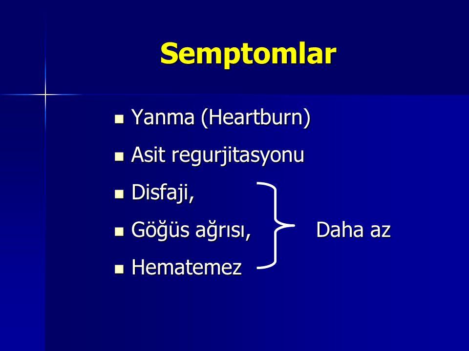 Patofizyoloji Neden; asit reflüsü (safra daha önemli) Neden; asit reflüsü (safra daha önemli) Etki; Etki; –Disakkaridaz aktivitesi değişikliği –Düşük mukozal glutamin düzeyi –Mukozal protein sentzindeki değişiklikler –Çeşitli hücresel değişikliklere Metaplazi varlığında Metaplazi varlığında –MAP kinaz aktivasyonu –COX-2 expresyonunun upregulasyonu