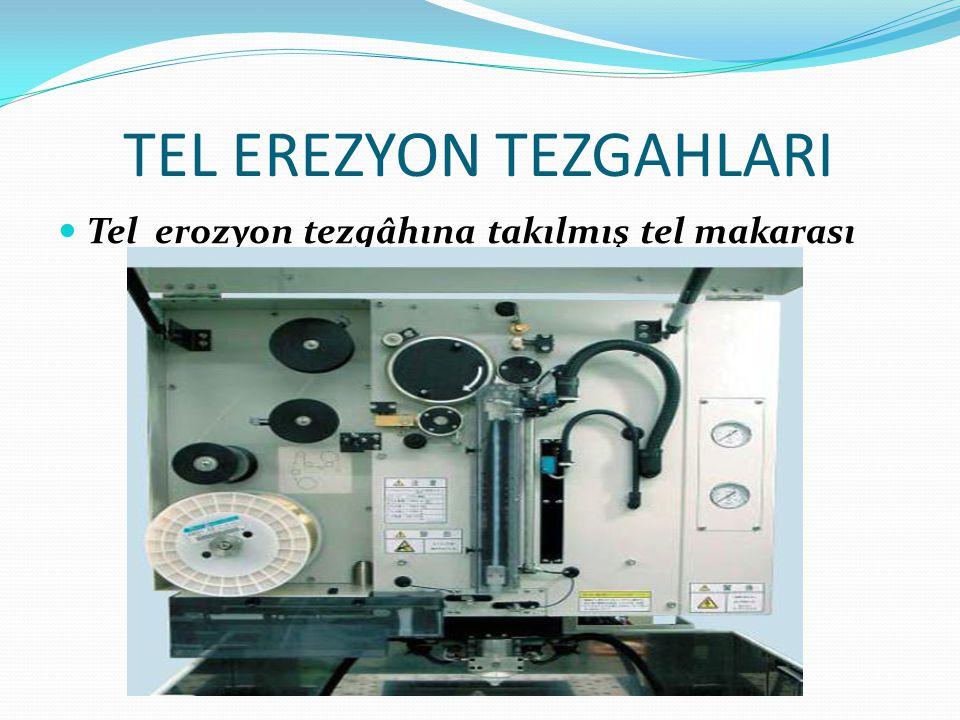 TEL EREZYON TEZGAHLARI Tel erozyon tezgâhına takılmış tel makarası