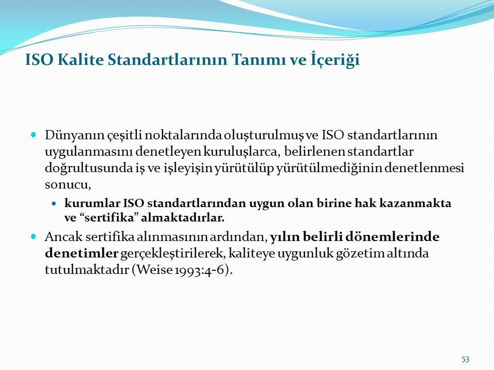 ISO Kalite Standartlarının Tanımı ve İçeriği Kurumlarda ISO standartları iki temel rol üstlenmektedir. Bunlardan ilki, kurumsal kalite yönetimidir. St