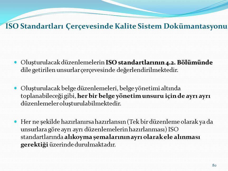 ISO Standartları Çerçevesinde Kalite Sistem Dokümantasyonu Kalite sistem dokümantasyonu çalışmalarının asıl amacı Kalite sistem dokümantasyonu çalışma