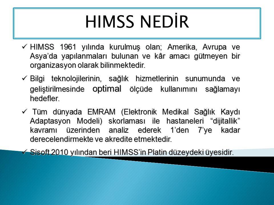 HIMSS 1961 yılında kurulmuş olan; Amerika, Avrupa ve Asya'da yapılanmaları bulunan ve kâr amacı gütmeyen bir organizasyon olarak bilinmektedir. HIMSS