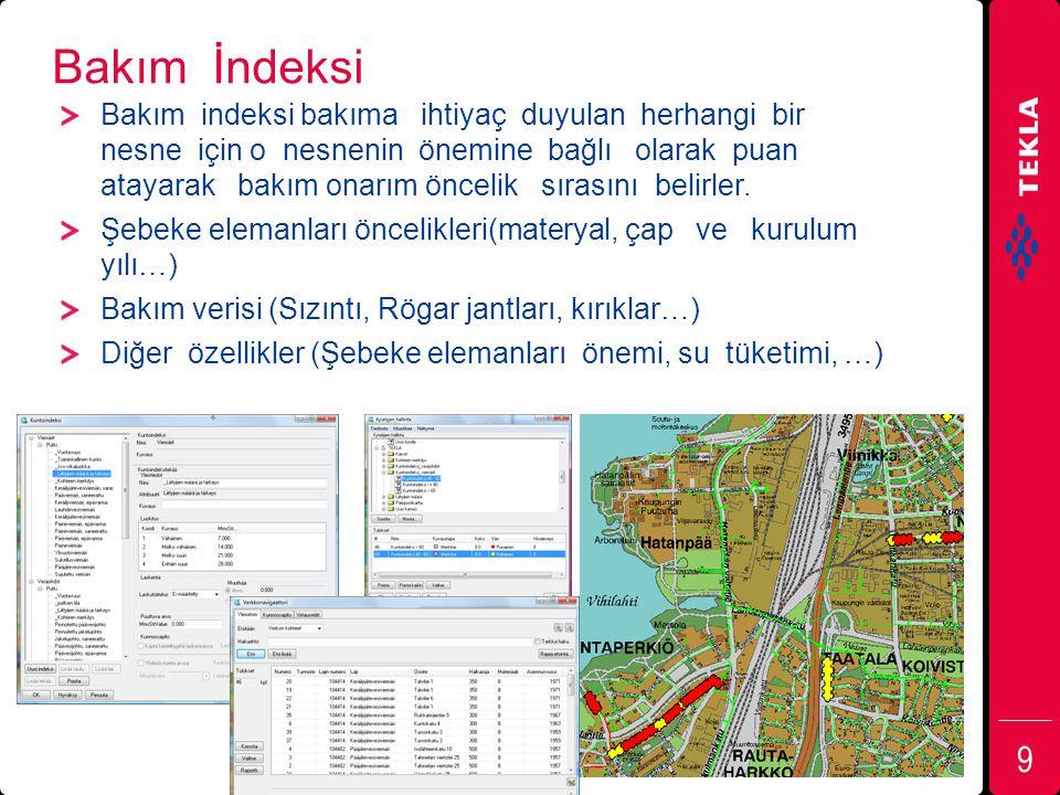 Tekla Xpipe, bazı referanslar Espoo Water 241 000 Tampere Water 200 000 Pirkkala 16 000 Turku Water Works 175 000 Jyväskylä Water 130 000 LV Lahti Water Ltd 115 000 Pori Water 76 000 Rovaniemi Water 63 000 Hämeenlinna region 60 000 (Hattula) (Hauho) (Kalvola) (Lammi) (Renko) (Tuulos) Vaasa Water 58 000 Seinäjoki Water 56 000 Nurmijärvi Water 39 000 Kajaani Water 38 000 Sotkamo 11 000 Kokkola Water Works 37 000 Kangasala Water Works 28 000 Riihimäki Water Works 28 000 Forssa Water 18 000 Parainen Water 15 500 City of Mariehamn 11 000 City of Kauniainen 9 000 Tuusula region Water 4 communities Linköping (Swe) 137 000 Mölndal (Swe) 58 000 Upplands Väsby (Swe) 38 000 Kungälv (Swe) 37 000 Skara (Swe) 19 000 Hizmet verilen müşteri sayısı 1,8 milliyon 20