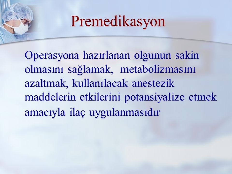 Preanestezik Vizit Preanestezik vizit, operasyona hazırlanan olgunun anestezist tarafından değerlendirilmesi ve hazırlıkların tekrar gözden geçirilmesi işlemidir