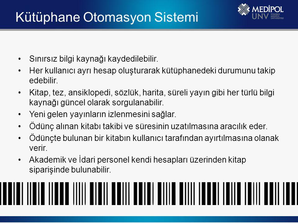 Kütüphanelerarası İşbirliği Üniversitemiz Akademik personeli, yüksek lisans ve doktora öğrencileri Türkiye'de yer alan üniversite araştırma kütüphanelerinde bulunan kitapları kütüphane üzerinden ödünç alabilir.