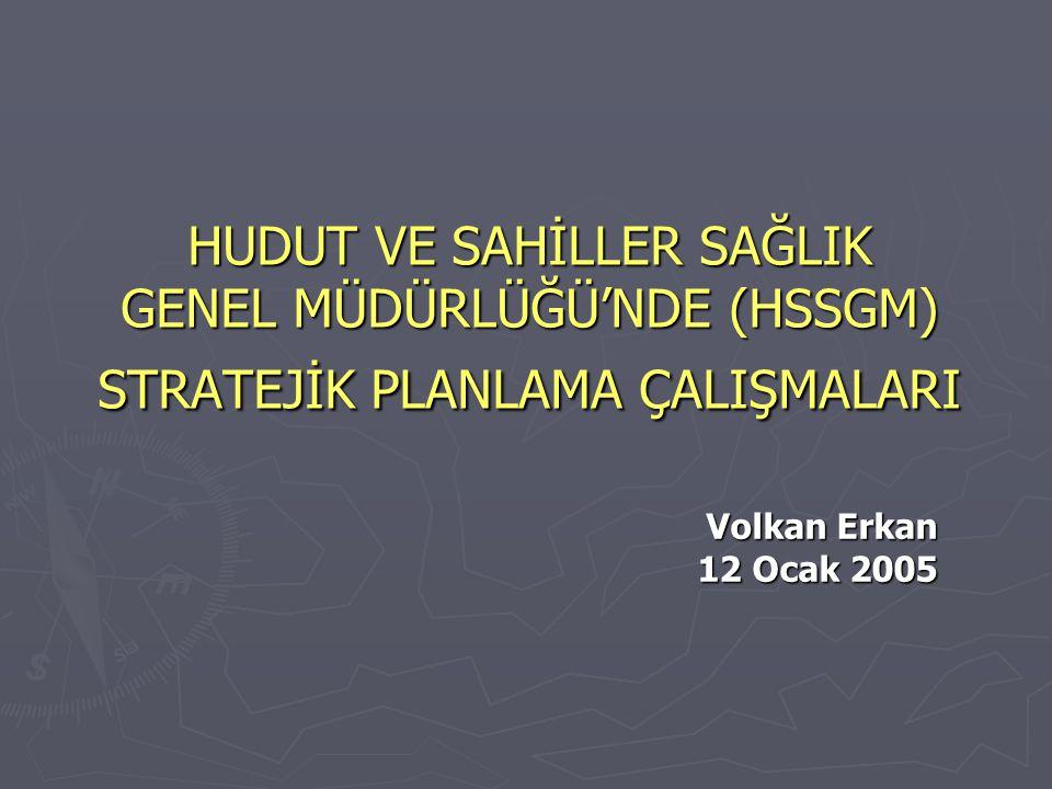 HSSGM ► Lozan Barış Antlaşması, Montrö Boğazlar Sözleşmesi, Uluslararası Sağlık Tüzüğü ile 1593 ve 2548 sayılı kanunlardan kaynaklanan yetki ve gelirleri kullanarak Türk Boğazları ile hudut ve sahillerde sağlık denetimleri yapan, uluslar arası geçerliliği olan sertifikalar düzenleyen ve uluslararası yayılım gösteren bulaşıcı ve salgın hastalıkların ülkemize girmesini ve çıkmasını önleyen Sağlık Bakanlığı'nın bağlı kuruluşudur.