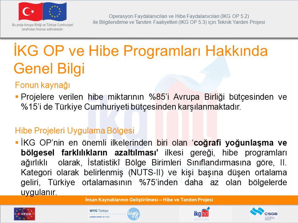 Operasyon Faydalanıcıları ve Hibe Faydalanıcıları (İKG OP 5.2) ile Bilgilendirme ve Tanıtım Faaliyetleri (IKG OP 5.3) için Teknik Yardım Projesi İnsan Kaynaklarının Geliştirilmesi – Hibe ve Tanıtım Projesi Raporlama Süreci Hakkında Genel Bilgiler  Proje süresi boyunca Hibe Faydalanıcıları'ndan (HF) hibe sözleşmesi Özel Koşulları'nda bildirilen şekilde raporlar sunması istenmektedir: 1.