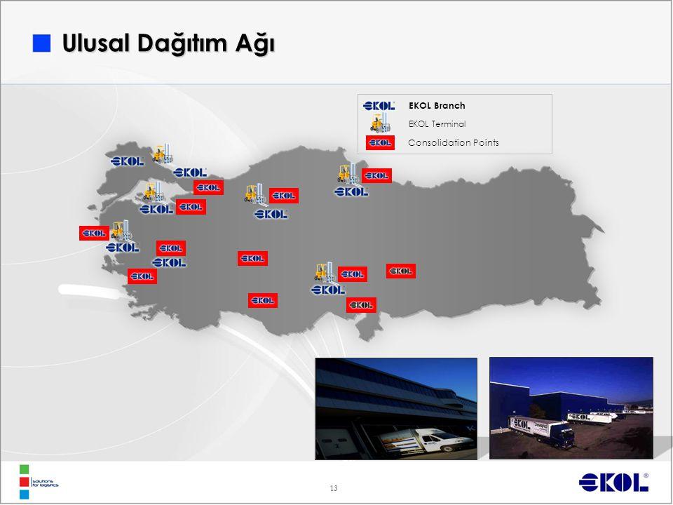 13 EKOL Branch EKOL Terminal Consolidation Points Ulusal Dağıtım Ağı