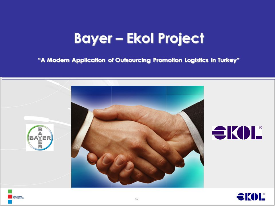 "36 Bayer – Ekol Project ""A Modern Application of Outsourcing Promotion Logistics in Turkey"""