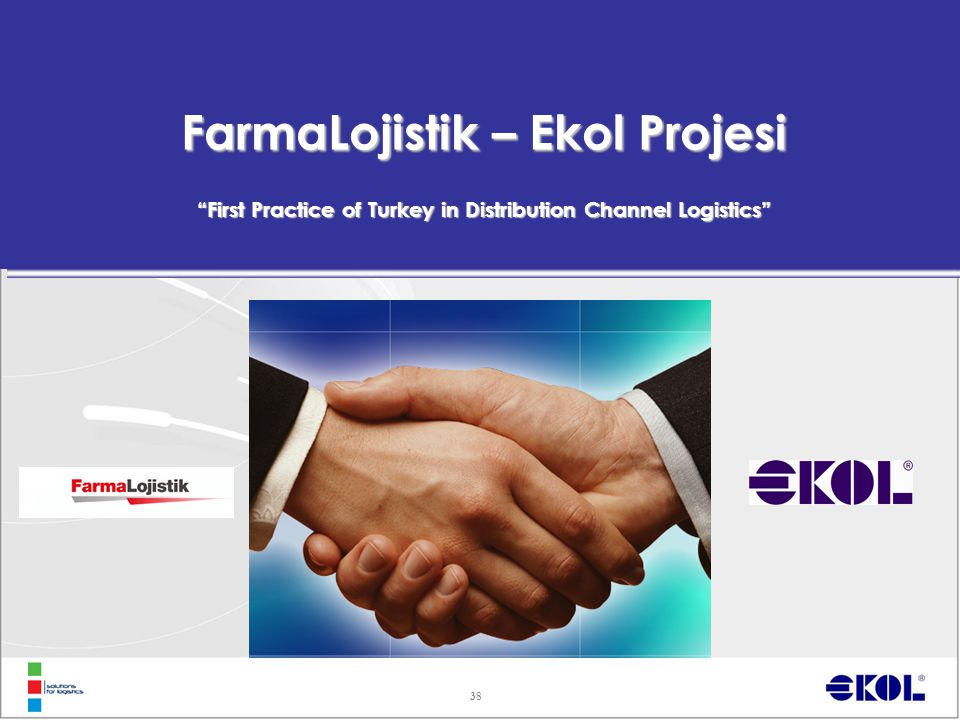 "38 FarmaLojistik – Ekol Projesi ""First Practice of Turkey in Distribution Channel Logistics"""