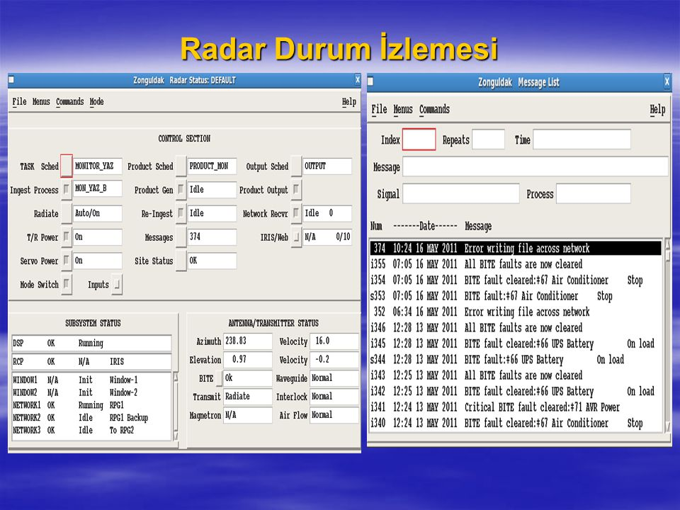 Radar Durum İzlemesi