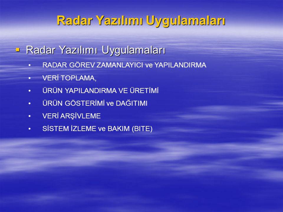 Radar Yazılımı Uygulamaları  Radar Yazılımı Uygulamaları RADAR GÖREV ZAMANLAYICI ve YAPILANDIRMA VERİ TOPLAMA, ÜRÜN YAPILANDIRMA VE ÜRETİMİ ÜRÜN GÖST